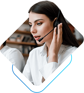 a girl talking on the phone - customer support